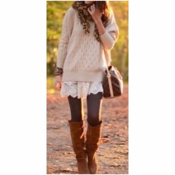 Pants - NEW Fleece Lined Brown Leggings